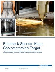Feedback Sensors Keep Servomotors on Target - Kollmorgen