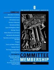 com m itt ee membership - The Money Management Institute