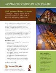 awards prospectus - WoodWorks