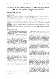 The antibacterial activity of aqueous extract of peppermint
