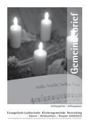 Gemeindebrief - Evangelische Kirchengemeinde Herrsching ...