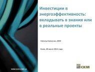 Инвестиции в энергоэффективность - СКМ