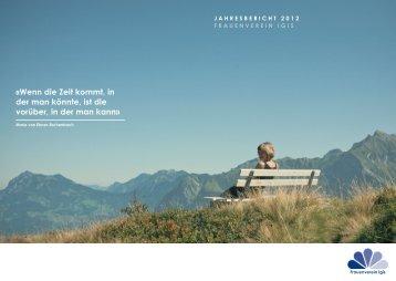 Jahresbericht FVI 2012 - Frauenverein Igis