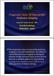 Prognostic Value Of Myocardial Prognostic Value Of Myocardial ...