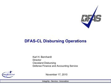 Accountability in Disbursing Operations - AGA Cleveland Chapter