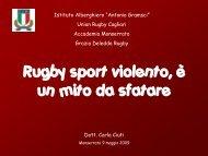 Rugby sport violento, è un mito da sfatare - Istituto Professionale ...