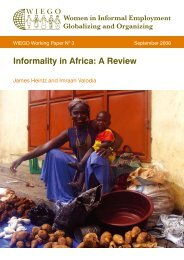 Informality in Africa: A Review - WIEGO
