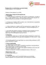 Felles - Regler for medlemskap og representasjon _2008 - Norges ...