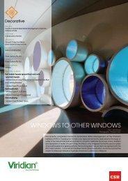 WINDOWS TO OTHER WINDOWS - Viridian