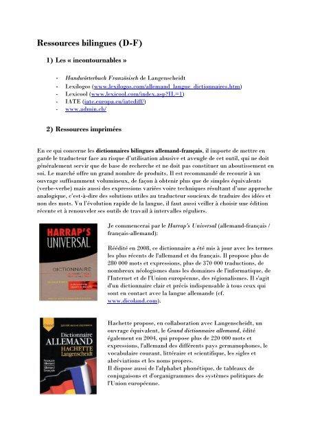 lexilogos französisch deutsch