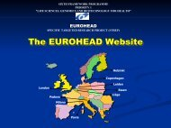 3. Structure and Contents - Eurohead Project