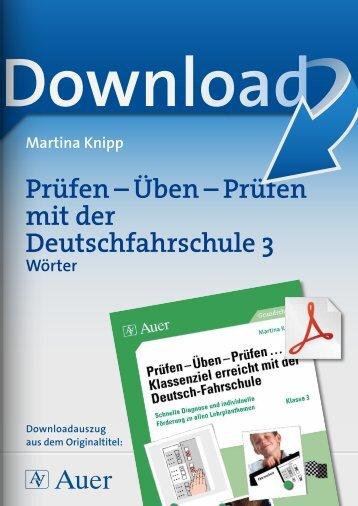 Prüfen – Üben – Prüfen mit der Deutschfahrschule 3