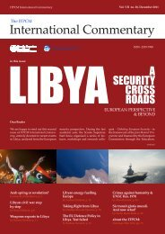 LIBYA A SECURITY CROSSROADS EUROPEAN PERSPECTIVE ...