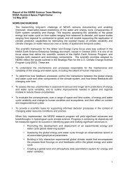 2013 NEWS Meeting - NEWS (The NASA Energy and Water cycle ...