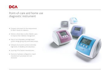 Point-of-care and home use diagnostic instrument - Creativematch