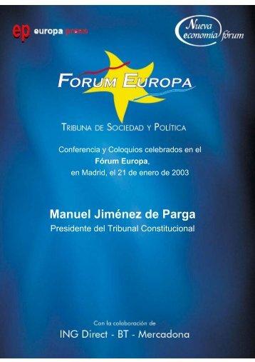 Manuel Jiménez de Parga - Nueva Economía Fórum