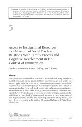 Access to institutional resources as a measure of social exclusion ...