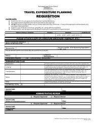 Travel Expenditure Planning Requisition - Form
