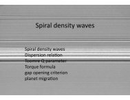 Spiral density waves - Astro Pas Rochester