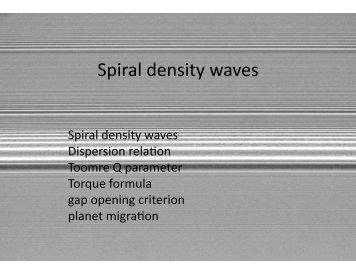Spiral density waves - Astro Pas Rochester