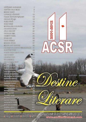ANUL 5 • NR. 28-29 • MARTIE-APRILIE • 2012 NUL - Liviu Ioan Stoiciu