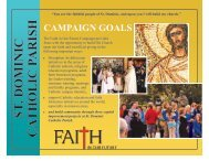 St. Dominic Campaign Goals Brochure - St. Dominic Church