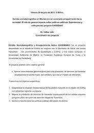CASOENAC es un proyecto desarrollado en el Estado de Colima, la ...