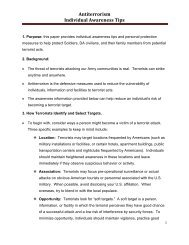 Antiterrorism Individual Awareness Tips - Army OneSource