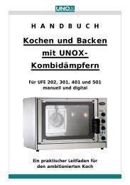 HANDBUCH Kochen und Backen mit UNOX ... - Unox-Oefen
