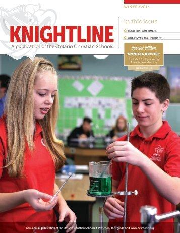 Knightline (Winter 2013) - Ontario Christian Schools