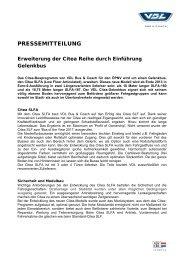 Einführung VDL Citea Niederflur Gelenkbus - Omnibusvertrieb Ost