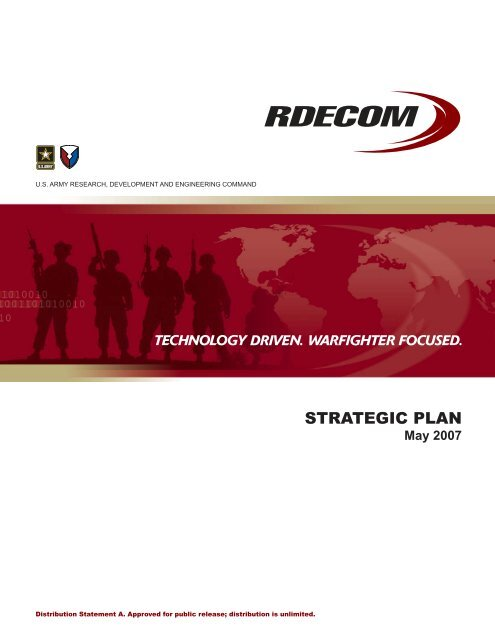 Strategic Plan Rdecom U S Army