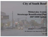 Mishawaka Avenue Streetscape Beautification Plan - City of South ...