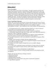 Biology w/lab CP - FAME Public Charter School