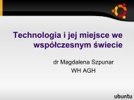 Technologia i jej miejsce we współczesnym świecie - Magdalena ...