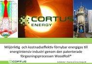 1. cortus energy ab - Redeye