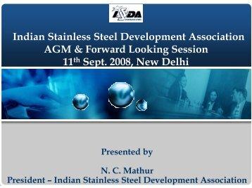 Indian Stainless Steel Development Association AGM & Forward ...
