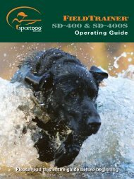 SportDog SD-400 Manual - Dog Training Collars