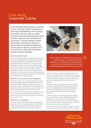 Case study: Corporate Culcha - Corporate Traveller
