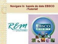 Navigare în bazele de date EBSCO