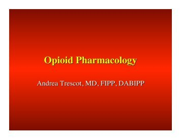 Opioid Pharmacology - Chronic Care Clerkship