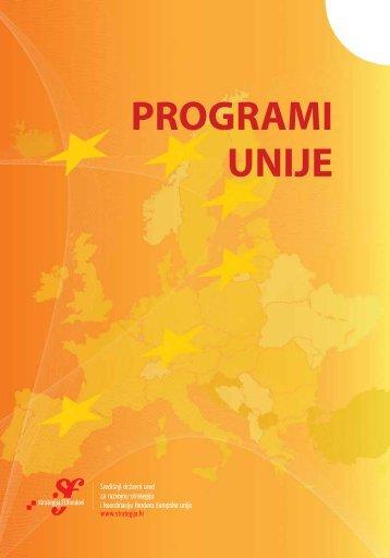 PROGRAMI UNIJE - Ministarstvo regionalnoga razvoja i fondova ...