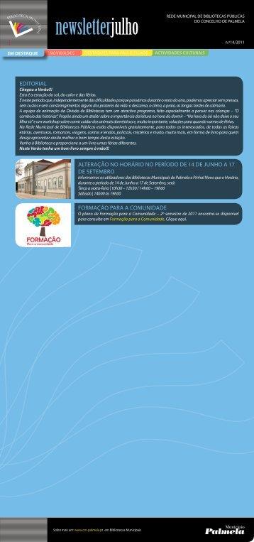 Newsletter Julho 2011 Formato 1 MB - Câmara Municipal de Palmela