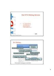 Der ETH Weblog Service - ITEK