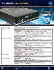 """TAG Portfolio: SV-300-IC """"MHQ-MOC"""" Datasheet - TAG.com"""