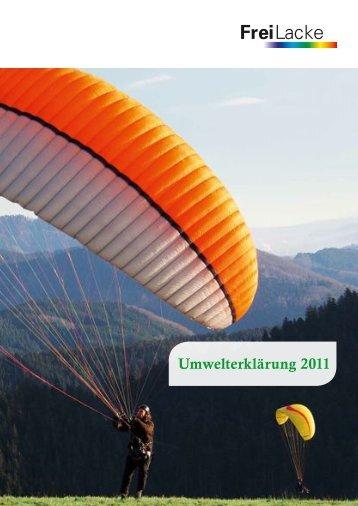 Umwelterklärung 2011 - Emil Frei GmbH & Co.