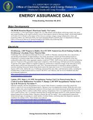 ENERGY ASSURANCE DAILY - U.S. Department of Energy