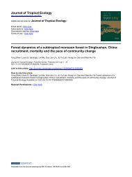 Journal of Tropical Ecology Forest dynamics of a subtropical ...