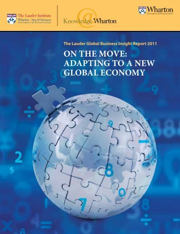 On the MOve: AdApting tO A new glObAl ecOnOMy - Horizon