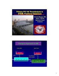 Primary PCI VS Thrombolysis in STEMI, Positional ... - RM Solutions